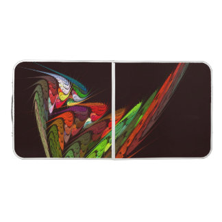 Chameleon Abstract Art Pong Table