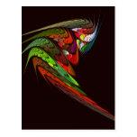 Chameleon Abstract Art Postcard