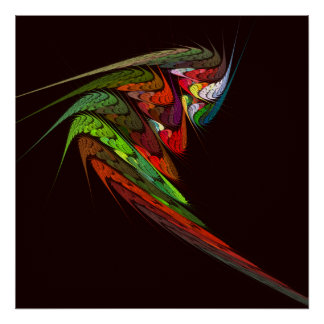 Chameleon Abstract Art Print