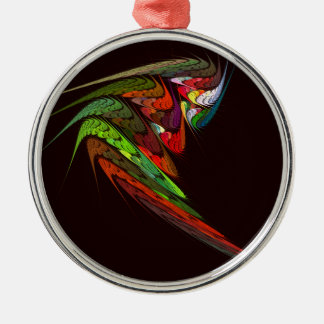 Chameleon Abstract Art Round Christmas Ornament