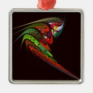 Chameleon Abstract Art Square Christmas Ornament