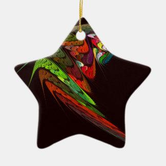 Chameleon Abstract Art Star Ornament