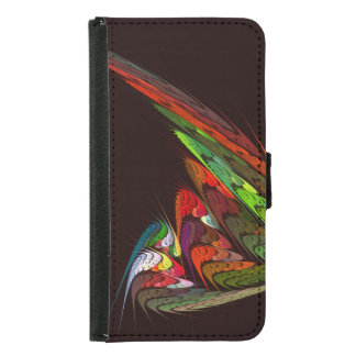 Chameleon Abstract Art Wallet Case