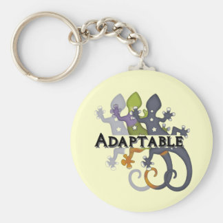 Chameleon Adaptable Basic Round Button Key Ring