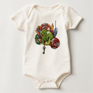 chameleon and crystals baby bodysuit