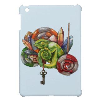 chameleon and crystals iPad mini case