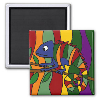 Chameleon Art Abstract Magnet