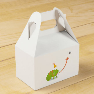 Chameleon birthday favour box