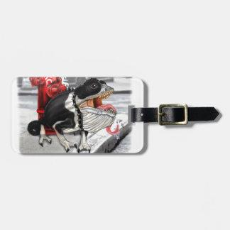 Chameleon Boston Terrier Luggage Tag