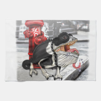 Chameleon Boston Terrier Tea Towel