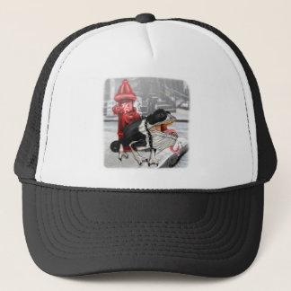 Chameleon Boston Terrier Trucker Hat