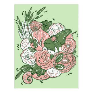 Chameleon bouquet postcard