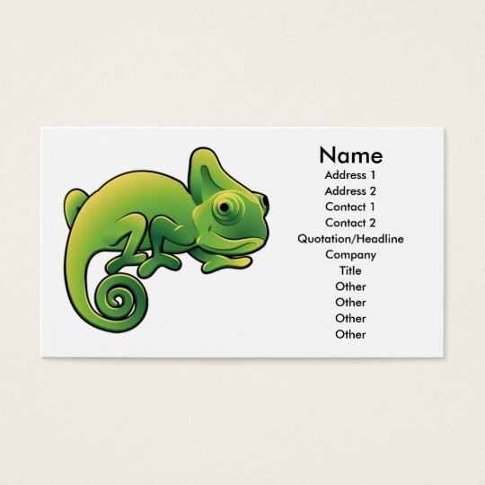Chameleon business card design