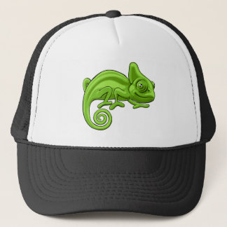 Chameleon Cartoon Character Cap