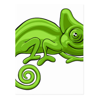 Chameleon Cartoon Character Postcard