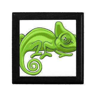 Chameleon Cartoon Character Small Square Gift Box