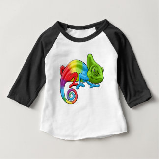 Chameleon Cartoon Rainbow Character Baby T-Shirt