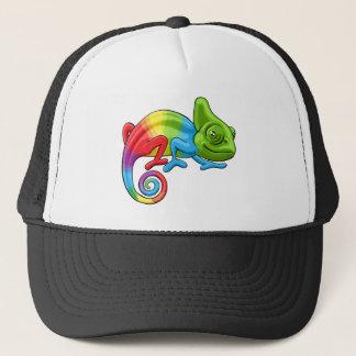 Chameleon Cartoon Rainbow Character Trucker Hat