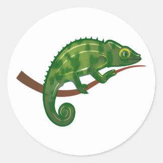 Chameleon chameleon classic round sticker
