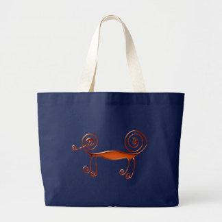 Chameleon chameleon large tote bag