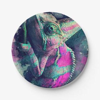 chameleon #chameleon paper plate
