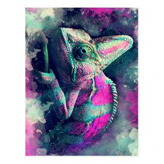 chameleon #chameleon postcard