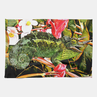 Chameleon Charisma Tea Towel