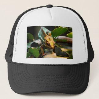 Chameleon coming forward trucker hat