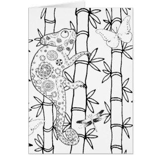 Chameleon Doodle Card