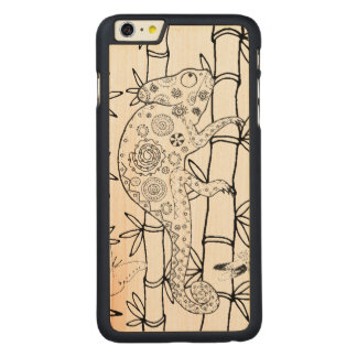 Chameleon Doodle Carved® Maple iPhone 6 Plus Case