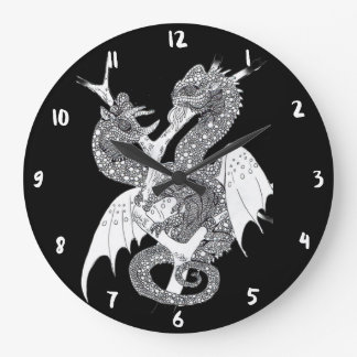 Chameleon Dragon Large Clock
