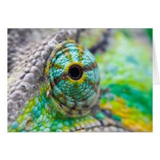 Chameleon eye card