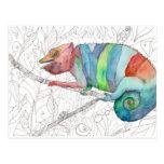 Chameleon Fail Postcard