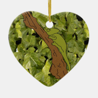 Chameleon Forest Christmas Ornament