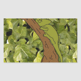 Chameleon Forest Rectangular Sticker