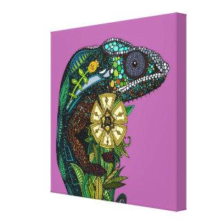chameleon orchid canvas print