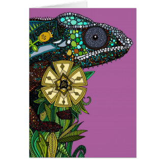 chameleon orchid card