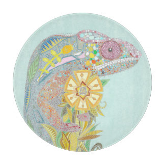 chameleon pastel cutting board
