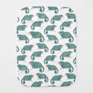 Chameleon Pattern Baby Burp Cloth