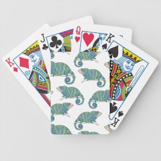 Chameleon Pattern Bicycle Playing Cards