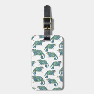 Chameleon Pattern Luggage Tag