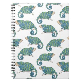 Chameleon Pattern Spiral Notebook