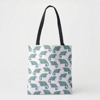 Chameleon Pattern Tote Bag