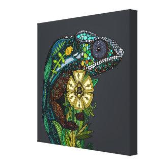 chameleon pewter canvas print