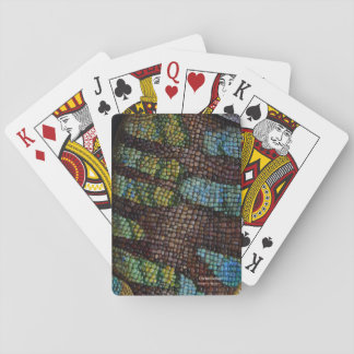 chameleon playing cards