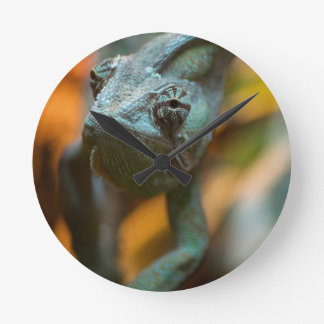 Chameleon Round Clock