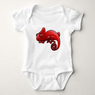 Chameleon Safari Animals Cartoon Character Baby Bodysuit