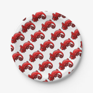 Chameleon Safari Animals Cartoon Character Paper Plate