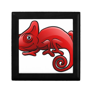 Chameleon Safari Animals Cartoon Character Small Square Gift Box