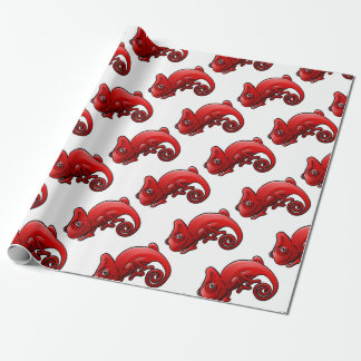 Chameleon Safari Animals Cartoon Character Wrapping Paper